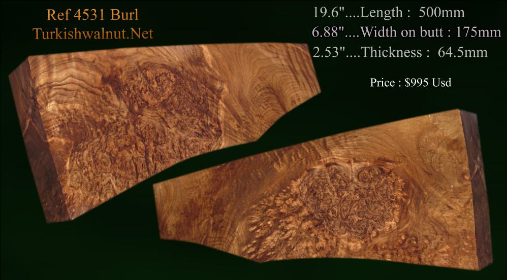 High grade cheap Burl Stock blank suitable