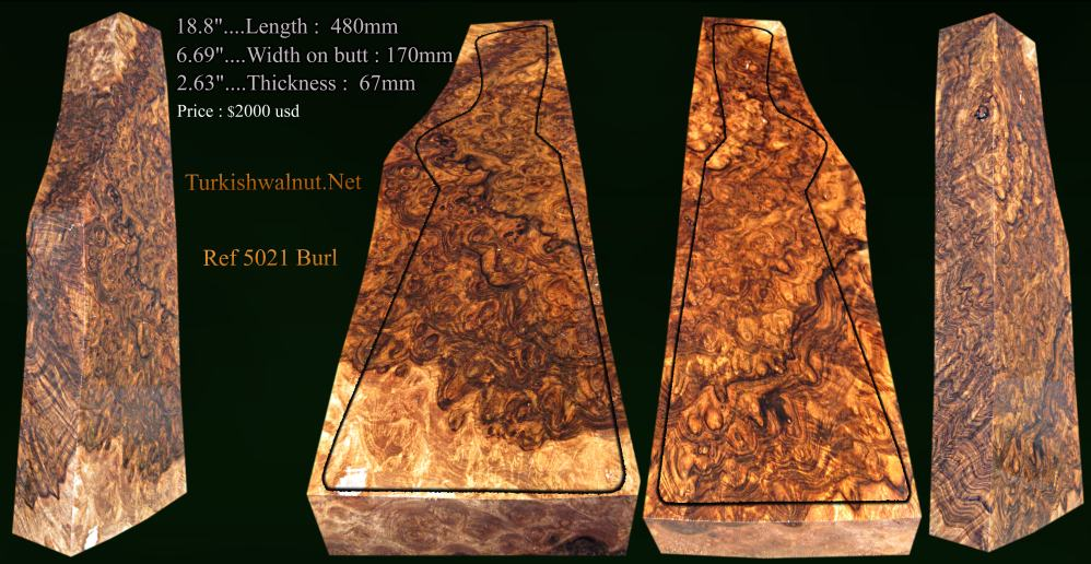 Extraordinary Burl Gun stock blank Excellent pattern