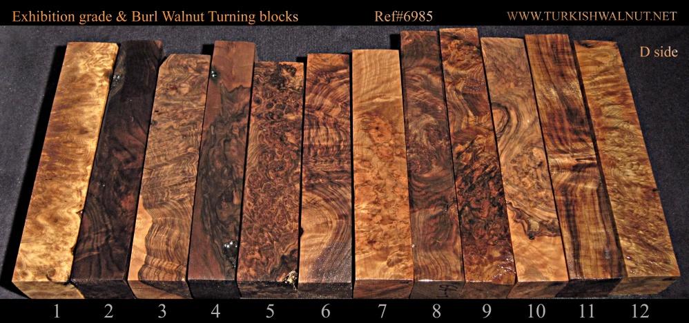 Burl Walnut Turning Blanks Blocks Exhibition Grade