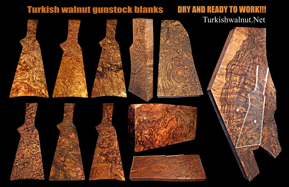 Exhibition grade Burl Turkish / Circassian walnut stock blanks