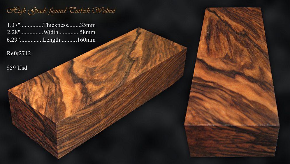 Walnut Knife Handle Blocks Exhibition Grade Amp Burls