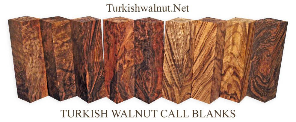 walnut game call goose call, duck call blanks